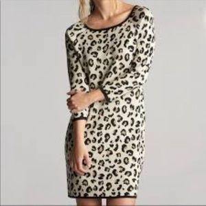 Velvet x Graham & Spencer Leopard Sweater Dress